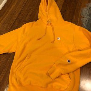 Gold yellow champion hoodie